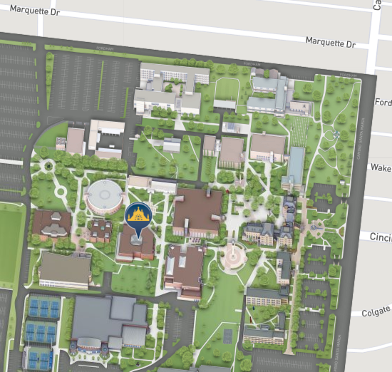 St. Mary's University campus map image.